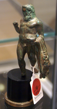 Roman bronze of Herakles