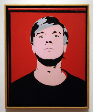 """Self-portrait"" by Warhol"