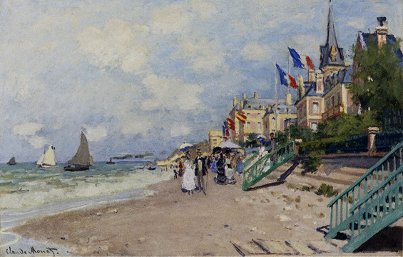 """La Plage à Trouville"" by Monet"