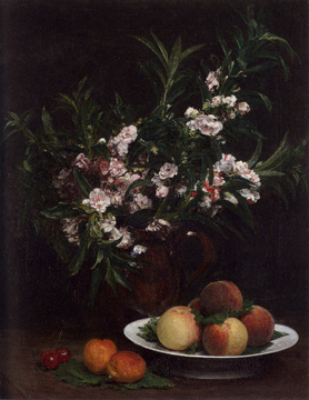 Still life by Fantin-Latour