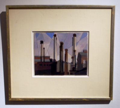 """Stacks in Celebration"" by Sheeler"