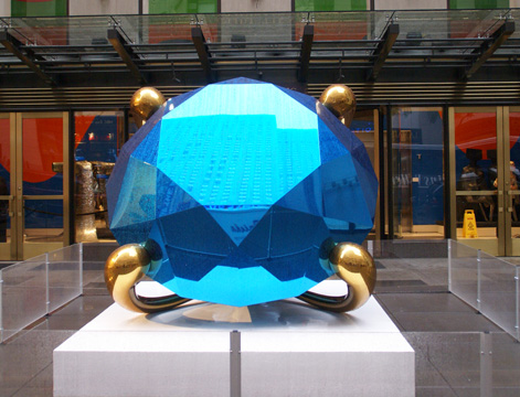"""Diamond (Blue) by Koons"