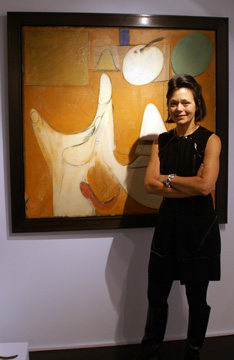 "Laura Paulsen and ""Untitled"" by de Kooning"