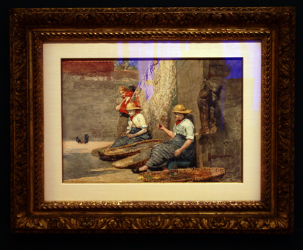 """Fishergirls coiling tackle"" by Homer"