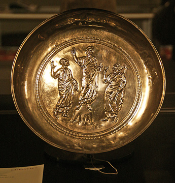 Early Christian silver paten