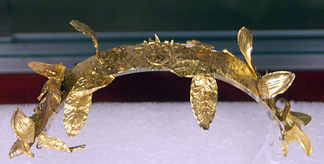 Greek Hellenistic gold diadem