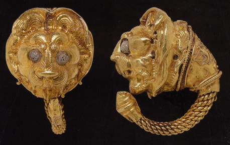 Hellenistic gold earrings