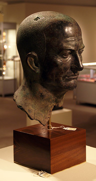 Bronze head of Emperor Vespasian