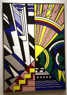"""Study for New York State Mural (Town and Country)"" by Lichtenstein"