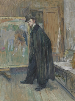 """Portrait of Henry Nocq"" by Toulouse Lautrec"