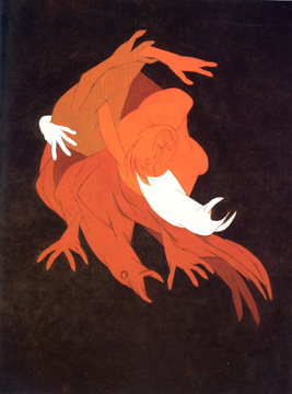 """Falling Figure with Bird"" by Mehta"