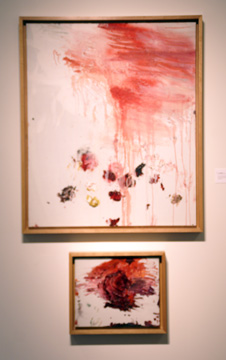 """Untitled (A Painting in Two Parts)(Bassano in Teverina)"" by Twombly"
