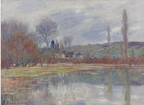 """Printemps à Vetheuil"" by Monet"