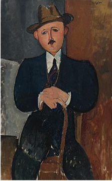 """Homme Assis"" by Modigliani"