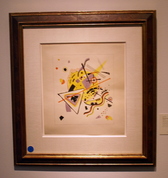 Untitled watercolor by Kandinsky