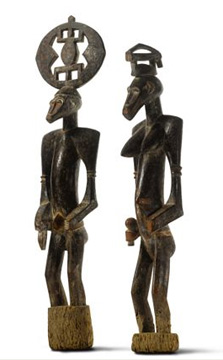 Ivory Coast pair of ancestor figures