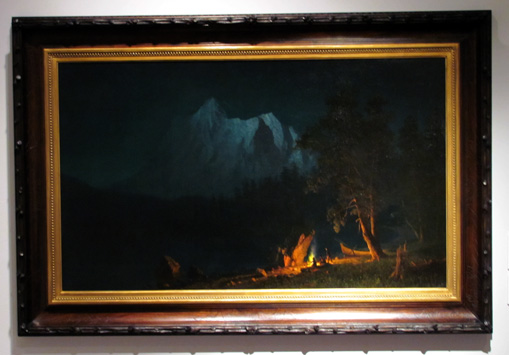 """Mountainous Landscape at Moonlight"" by Bierstadt"