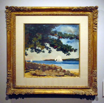"""Nassau: Water and Sailboat"" by Homer"
