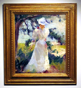 """My wife, Emeline, in a Garden"" by Tarbell"