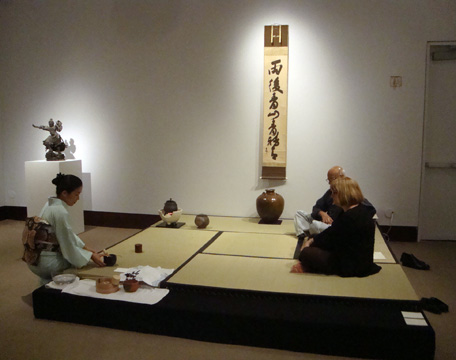 Japanese tea ceremony at press preview