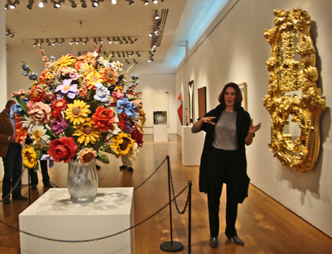 """Large Vase of Flowers"" and ""Wishing Well"" both by Koons"