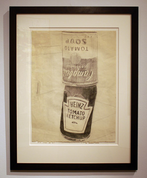 """Ketchup and Soup Can"" by Warhol"