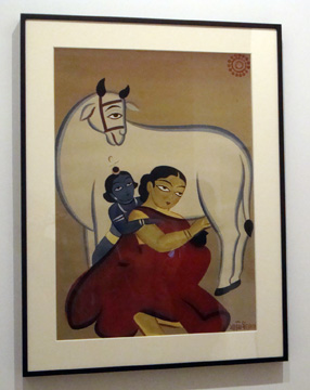 """Untilted (Yashoda and Krishna)"" by Roy"