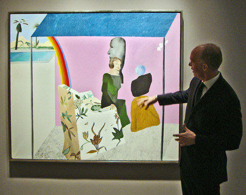 "Anthony Grant with ""California Art Collector"" by Hockney"