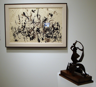 "Untitled by Pollock and ""Bathers"" by David Smith"