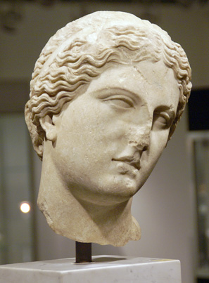 Roman head of Aphrodite