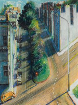 """Study for Carolina Street"" by Thiebaud"