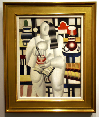 Figure with black hair by Leger
