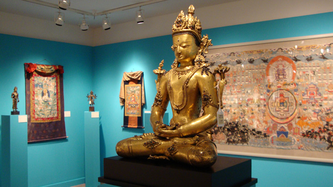 Gilt bronze of Amitayus, Tibet, 14th Century