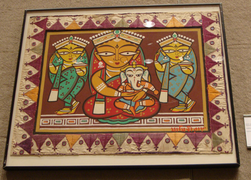 """Untitled (Parvati and Ganesh with Attendants"" by Roy"
