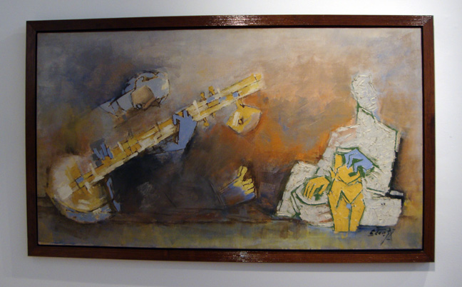 """Untitled (Sitar Player)"" by Husain"