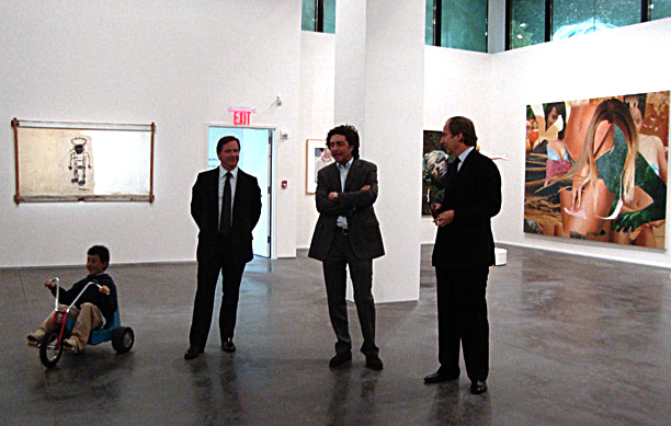Michael McGinnis, Philippe Ségalot and Simon de Pury and Cattelan's Charlie