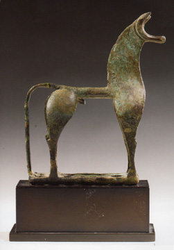 Greek bronze horse