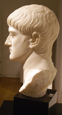Roman marble bust of a man