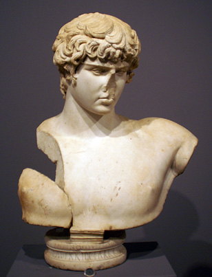 Roman bust of Antinous