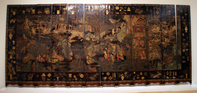 Magnificent coromandel lacquer 12-fold screen, Qing Dynasty