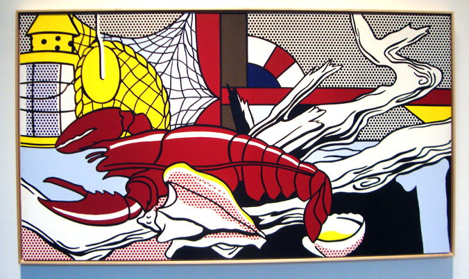 """Still Life with Lobster"" by Lichtenstein"