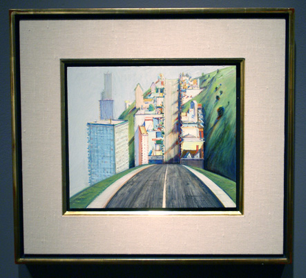 """Park Place Study"" by Wayne Thiebaud, oil on panel"
