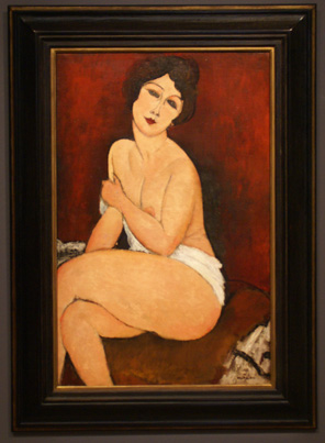 """Nu Assis Sur Un Divan"" by Modigliani"