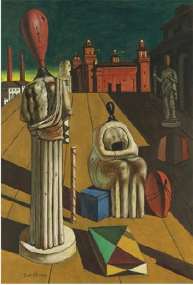 """Le Muse Inquietanti (Restless Muse)"" by de Chirico"