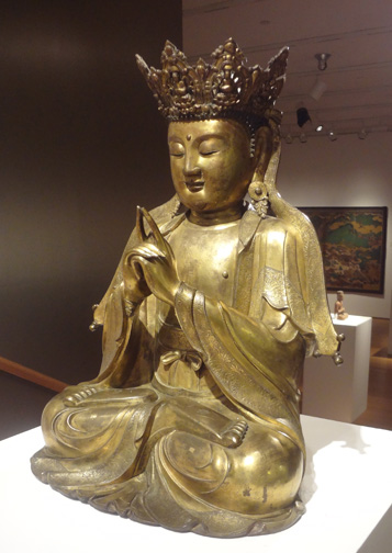 Large gilt-bronze figure of Vairocana