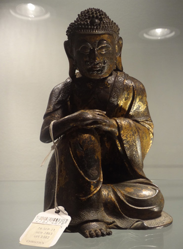 Gilt-lacquered bronze figure of Shakyamuni