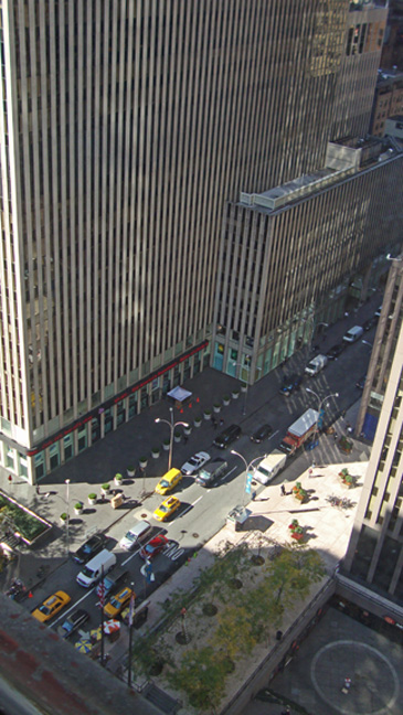 View from 20th floor of 20 Rockefeller Plaza