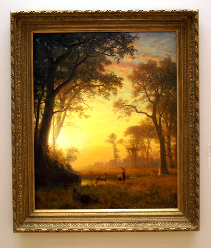 Large deer by Bierstadt