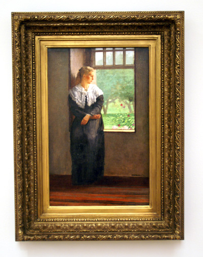 Woman by window by Homer