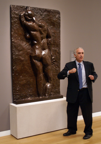 David Norman and Matisse sculpture